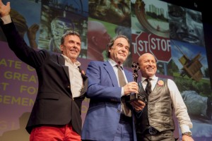 Oliver Stone receive the Sorel Etrog Award at Vogue Theatre