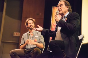 Oliver Stone giving a workshop for kids in Port Moody