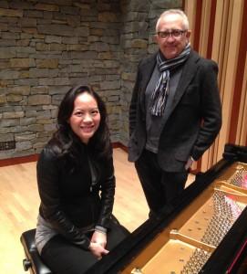 Vivian Fung, Maestro Bramwell Tovey & a piano