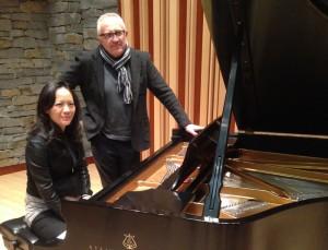 Vivian Fung, Maestro Bramwell Tovey and a piano