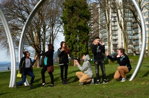 Dennis Oppenheim. ENGAGEMENT in Sunset Beach Park in Vancouver. BIG IDEAS education visit by North Delta Grades 10 to 12 students in Feb. 2015. Photo by roaming-the-planet. 17908604465_fc322cda30_o
