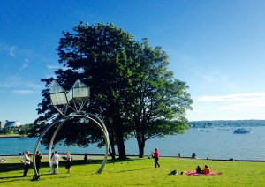 Dennis Oppenheim. ENGAGEMENT. Sunset Beach Park in Vancouver. 2014 - 2016 exhibition