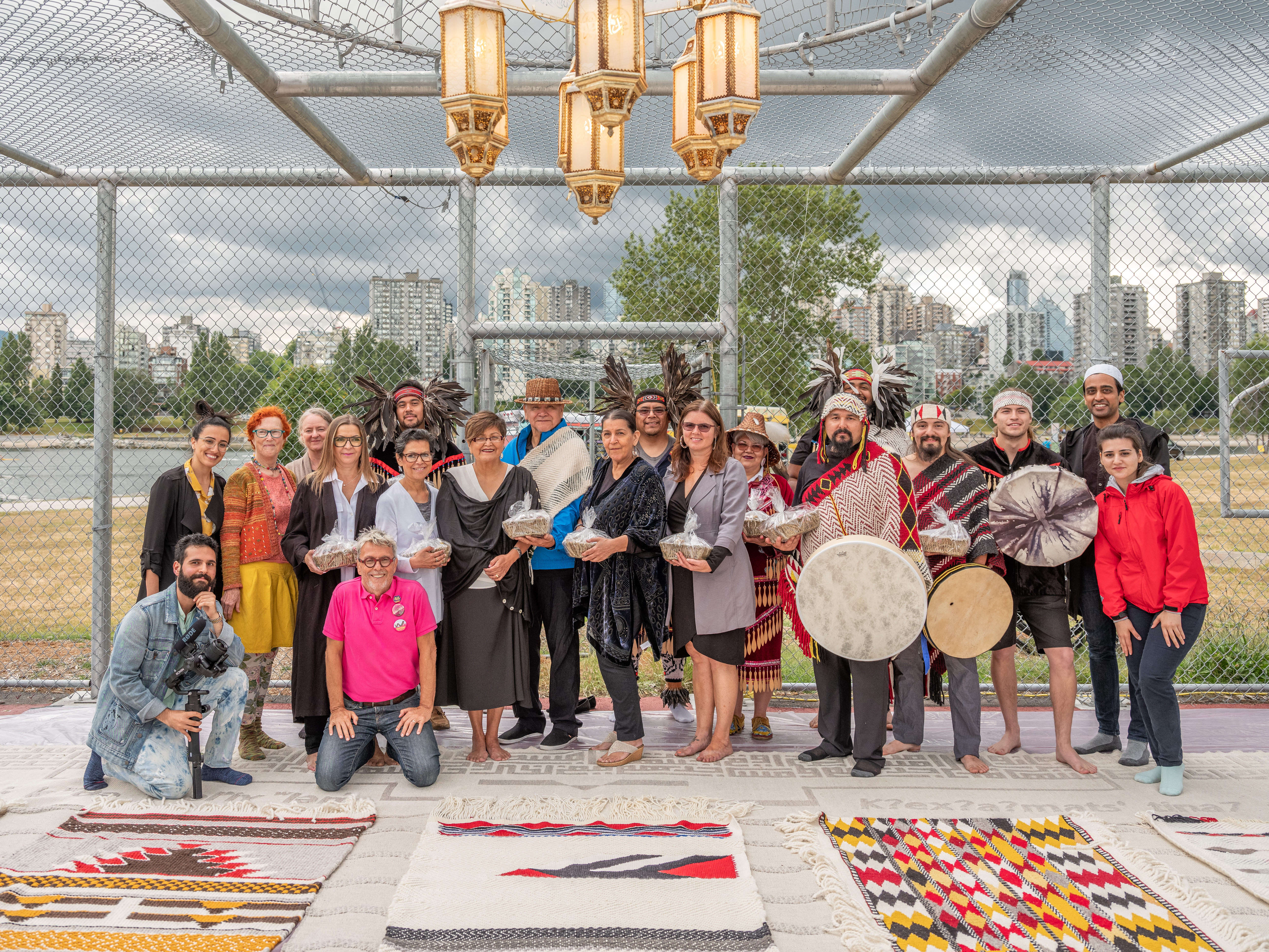Threads Through Time opening ceremony at Paradise Has Many Gates, 2019